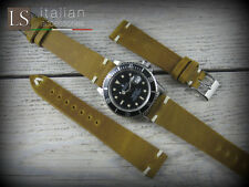 Cinturino in Pelle LS SENAPE VINTAGE 20 mm Watch Strap Band Senape