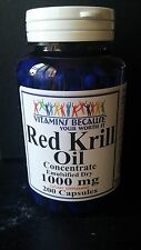 RED Krill Oil 200 Capsules HIGH-1000 MG Omega-3 Fatty Acids-EPA-DHA Astaxanthin