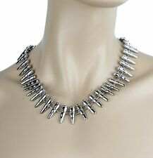 Bullet Necklace Steampunk Leather Collar Choker Punk Goth Rock Cosplay