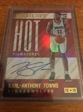 2015-16 PANINI HOOPS KARL-ANTHONY TOWNS HOT SIGNATURES ROOKIE AUTOGRAPH CARD