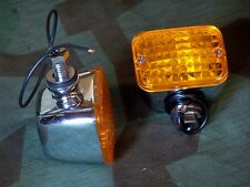 Shovelhead, Sportster, Chopper 12V King Marker Lights. Amber Lens