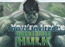 The Incredible Hulk Party Invitations ! A Very Nice Item For Hulk Lover's Party.
