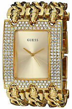 Guess Reloj Mujer Bracelet Pulsera Watch Women Gold Crystal Stone Hand Oro Chain