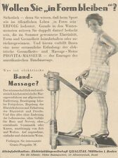 Y6900 ERFOLG Band Massage -  Pubblicità d'epoca - 1929 Old advertising