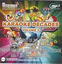 Mr Entertainer Karaoke 100 pistas de MP3+G - décadas 60s, 70s, 80s, 90s, 00s Vol 5 MKD5