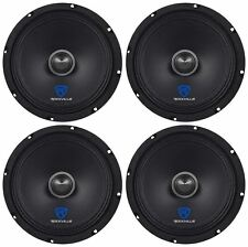 "(4) Rockville RXM84 8"" 1000w 4 Ohm Mid-Range Drivers Car Speakers, Mid-Bass"