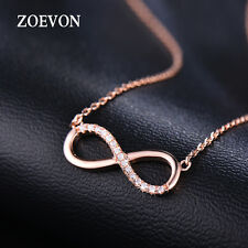 Fashion Charm Jewelry Crystal Infinity Pendant Chain Chunky Statement Necklace