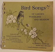 1964 NATIONAL GEOGRAPHIC SOCIETY BIRD SONGS 33-1/3 RPM RECORDS