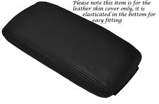 BLACK STITCH LEATHER ARMREST ELASTICATED SKIN COVER FITS AUDI A3 8P S3 03-12