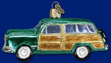 *Woody Wagon* Car Auto Vintage [46019] Old World Christmas Glass Ornament - NEW