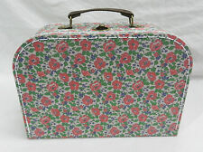 Retro Floral Suitcase Style Storage Box  -Shabby Chic and Very Pretty -  NEW (H)