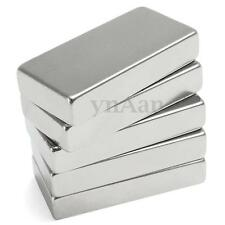 Strong Powerful Magnets Large Neodymium Block 50mm x25mm x10mm N35 Fridge