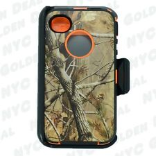 New For Apple iPhone 4/4s Defender ORANGE TRE Case Cover w/Clip&Buid in Screen b
