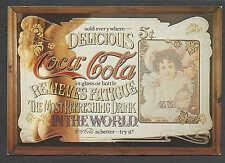 """Ca 1950 PPC REPRO OF COCA COLA SERVING TRAY MINT 4.5"""" X 6.5""""."""