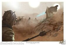STAR WARS Celebration No Country for old Men Benjamin Carre Obi Wan Art Print