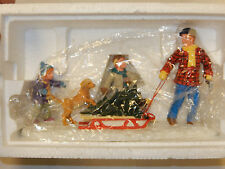 LEMAX CHRISTMAS VILLAGE ACCESSORY - BRINGING HOME THE CHRISTMAS TREE
