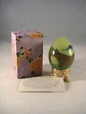 Decorative Chinese Reverse Handpainted Glass Egg-Steer Design
