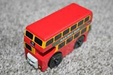 Thomas the Train & Friends Wooden Railway Bulgy Red Bus Wood Learning Curve RARE