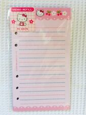Hello Kitty Stationery Memo Paper, Refill Pages, RARE, Fits LV MM, NIP