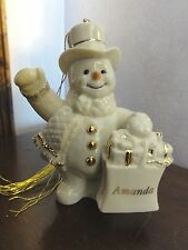 "Lenox My Very Own Snowman Ornament - Personalized ""Amanda"""