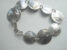 Coin bracelet-  Antique Buffalo/ Indian nickel and silver Mercury dime bracelet