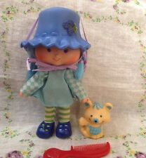 Vintage Strawberry Shortcake Blueberry Muffin Doll Pet Cheesecake Mouse Comb