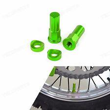 Green Rim Lock Nut Washer Kit for Kawasaki KX KXF KDX KLX 65/80/85/100/125/250