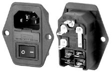 Fused Switched IEC Mains Inlet Socket Compatible With Audio Equipment UK Stock