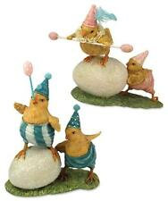 Bethany Lowe Circus Baby Chicks Balancing Act  2 Easter Figures