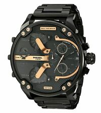 Diesel Men's Mr. Daddy 2.0 Black Ion-Plated Stainless Steel Analog Watch DZ7312