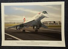 Concorde End of an Era Mike Bannister Signed Limited Edition Print