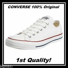 BRAND NEW Converse All Star Chuck Taylor Canvas Shoes White Low 5.5/7.5 Free S&H