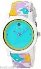 NEW-SPROUT TURQUOISE DIAL MULTI COLOR ORGANIC STRAP,WHITE RESIN CASE,ST/5528TQCO