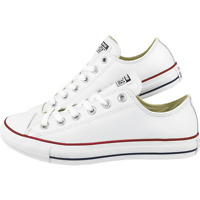 CONVERSE ALLSTARS OX LO WHITE/RED LEATHER UK SIZES 3,4,5,6,7,8,9,10,11 unisex