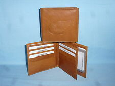 DETROIT RED WINGS   Leather BiFold Wallet    NEW    brown 4 +