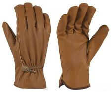 Leather Driver Gloves Brown Guanti Pelle Indiana Biker Moto Marrone Harley Tg XL
