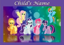 Childrens/Kids A4 My little Pony dinner mat / place mat. Personalised