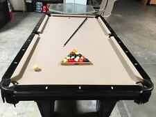 Antique Authentic American Brunswick Pool Table/ Equip/ Cue Rack and Accessories