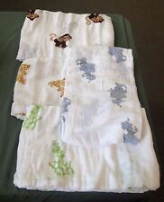 Hanchell 100% Organic Cotton Receiving Swaddle Blanket Set of 4