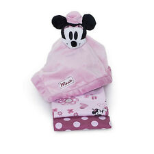 DISNEY MINNIE MOUSE SECURITY BLANKET + LOT 2 RECEIVING GIFT PACK PINK GIRL SOFT