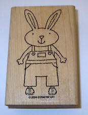 Bunny Rabbit Boy Overalls Rubber Stamp Flowers Shoes Stampin' Up! New Spring NOS