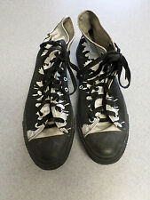 "Converse All Star ""Chuck Taylor"" black and silver basketball shoes Men's 10.5"