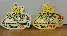 Pokemon League Summer Training Tour 1999 Pikachu Stickers EXTREMELY RARE