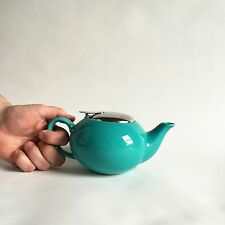 Infuser Tea Pot Certified International stoneware Teal Aqua Turquoise