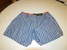 Polo Ralph Lauren underwear men's lounge boxer shorts blue plaid logo L LG pony