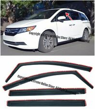 For 11-Up Honda Odyssey IN CHANNEL Smoke Tinted Side Window Visors Rain Guards
