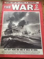 THE WAR 1941 Magazine Navy Pours 300 Tons Of Shells On Genoa WWll WW2