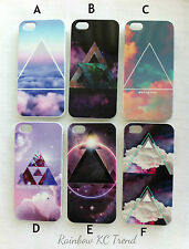 Galaxy/Cloud Space/Cloud Sky Geometric Triangle Printed iPhone 5 5s Case