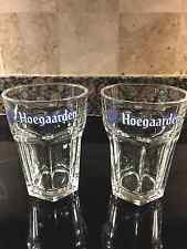 HOEGAARDEN BREWERY  BELGIUM PAIR OF NEW HEXAGONAL  0.33L  PUB GLASSES