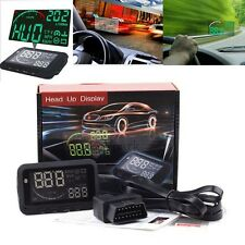 Universal Car HUD Head Up OBDII OBD2 Speed KM/h MPH RPM Display System